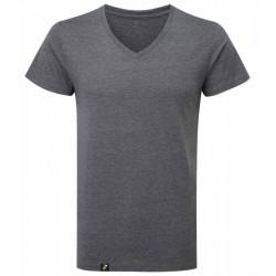 Camisetas cuello pico antimosquitos hombre gris