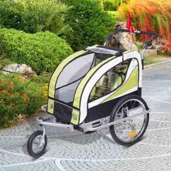 Remolque Bicicleta para Niños con Mosquitera