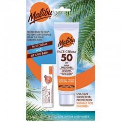 Loción Solar Facial + Protector Solar Labial Malibu