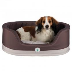Cama para perros ovalada Insect Shield - Marrón