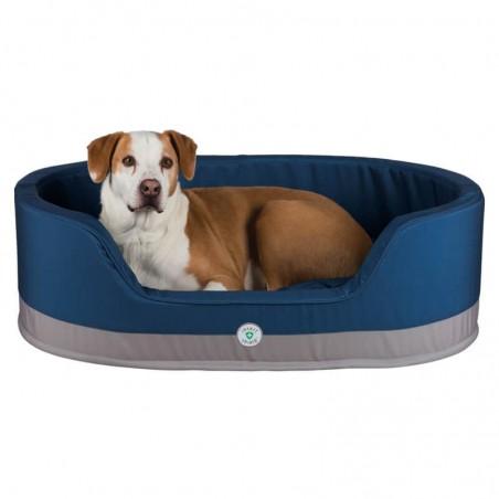 Cama para perros ovalada Insect Shield - Azul