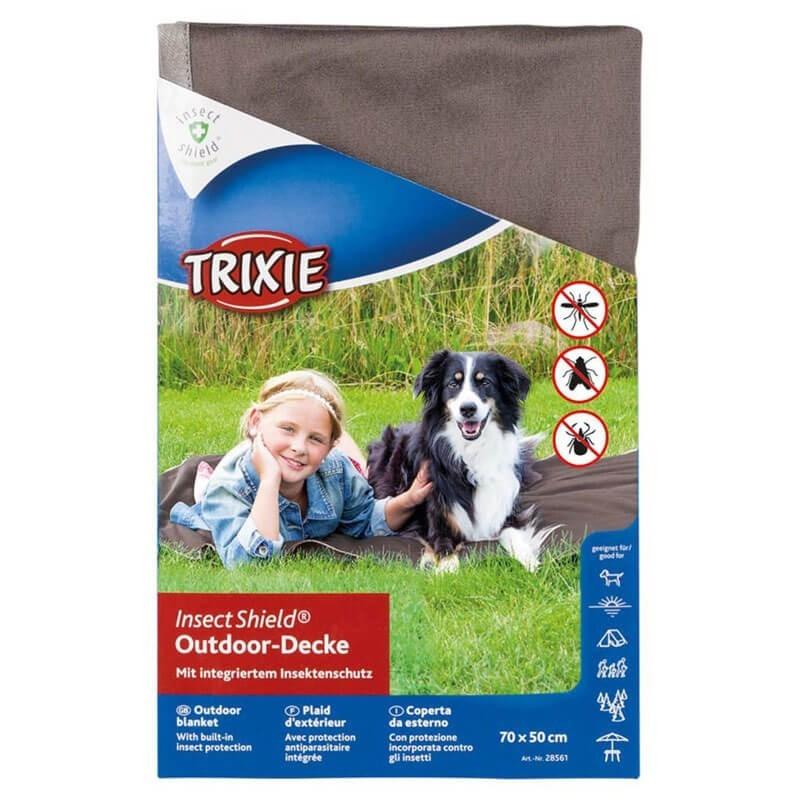 Manta para perros repelente insectos marrón packaging