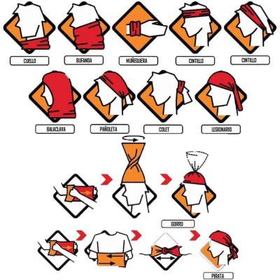 Como utilizar pañuelo buff