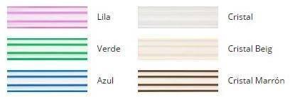 Colores Cortina de cinta traslucida antimoscas