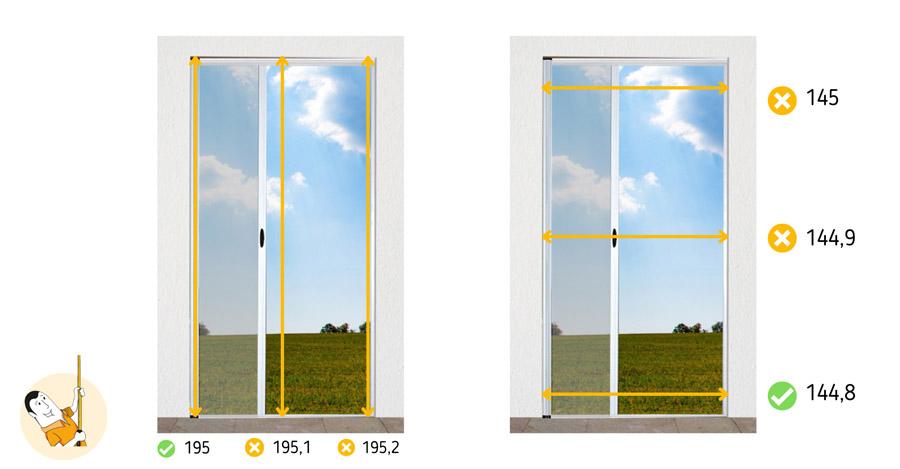 Como tomar medidas para cortina antimoscas