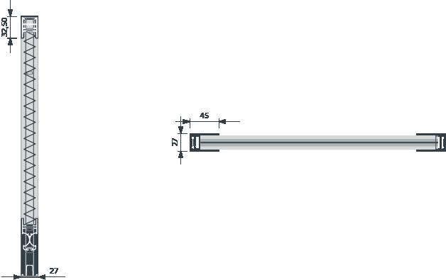 Medidas Mosquitera Plisada de 27 cm